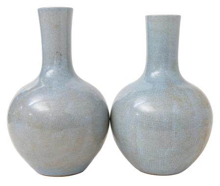 Pair of Chinese Bottle Vases