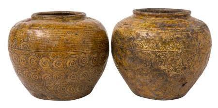 Pair of Han Dynasty Style Storage Jars
