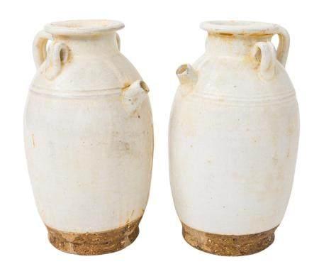 Pair of Chinese Wine Jars