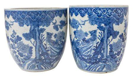 Pair of Chinese Canton Planters