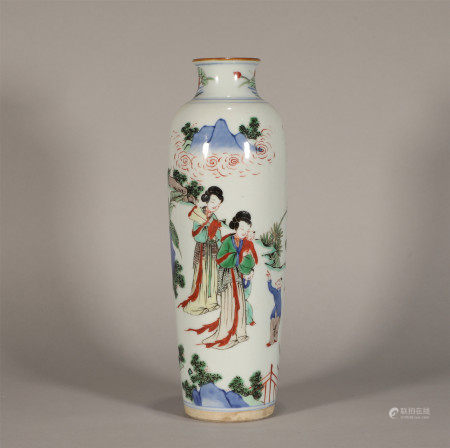 Famille Verte Vase Kangxi Style