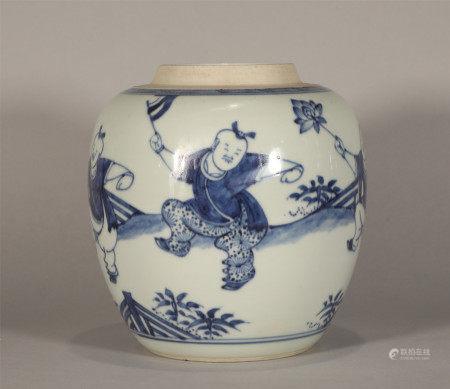 Blue and White Jar Knagxi Style