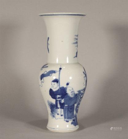 Blue and White Yenyen Vase Qing Style