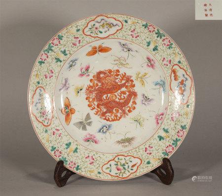 Famille Rose Plate Guangxu Style