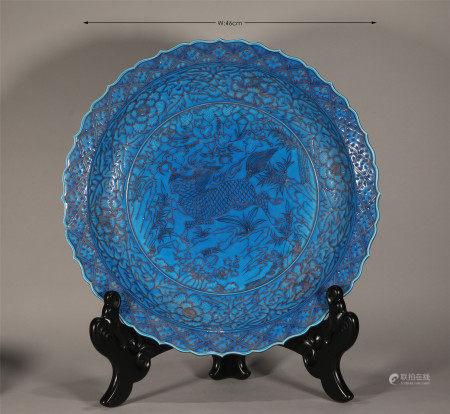Fahua Glazed Dish Yuan Style
