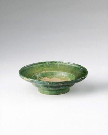 金  绿釉茶盏托