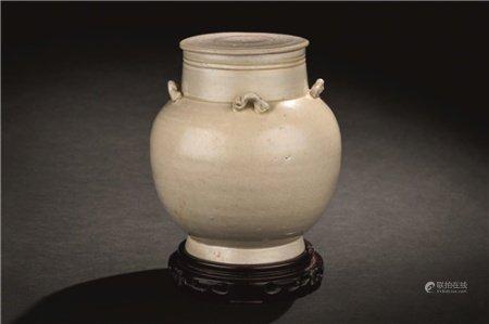 南宋(1127-1279) 青白瓷四耳盖壶