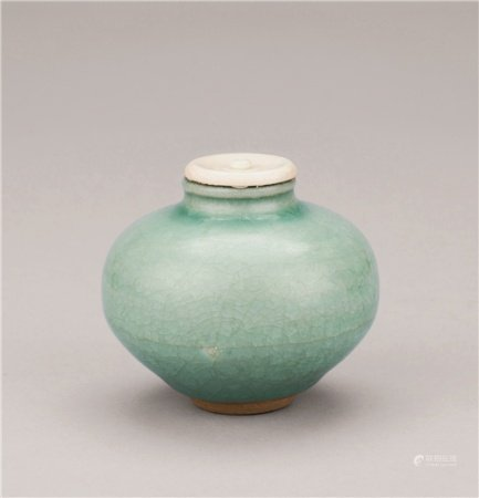 宋代(960-1279) 砧青瓷丸茶器