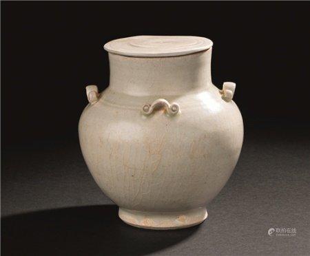 宋代(960-1279) 影青四系盖壶