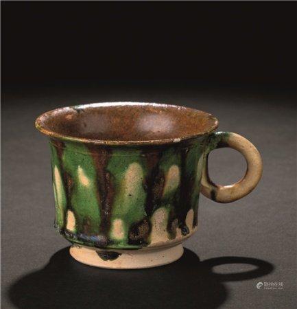 唐代(618-907) 三彩环耳杯