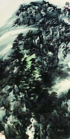 童龢平(b.1952)  云峰 立轴 设色纸本