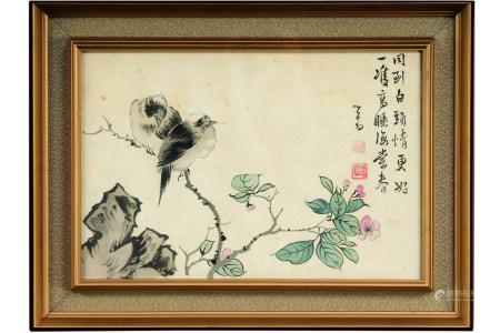 溥儒(1896-1963)  白头偕老 镜心 设色绢本