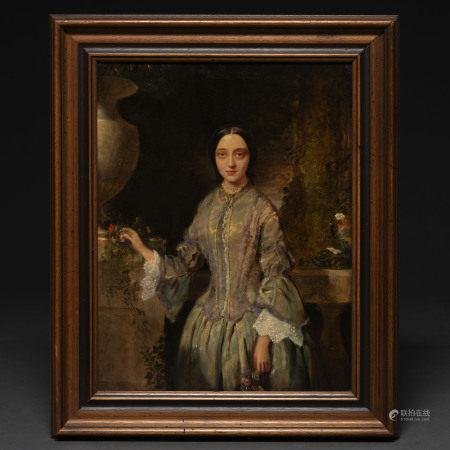 """""""Retrato de Mujer en el Jardín"""""""