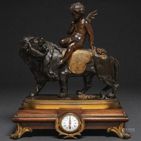"""""""CH. GAUTIER - HEIZELER ET E. CORNU"""" Reloj de sobremesa francés, Siglo XIX"""