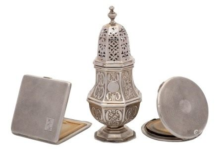 A Victorian silver sugar caster, maker George Nathan & Ridley Hayes,