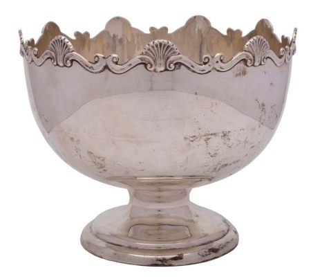 A George V silver punch bowl, maker William Henry Sparrow, Birmingham,