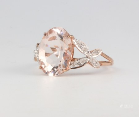A 9ct rose gold dress ring, 3.1 grams, size R 1/2