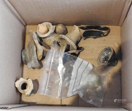 Lot d'objets   antiques et divers.En l'état.dont manques, restaurations,lacunes.