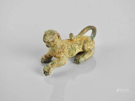 Panthère.Bronze.Epoque romaine.Premiers siècles ap J.C.L :7cm.