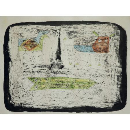 ¤ VICTOR BRAUNER (1903-1966)  SANS TITRE, 1953  Encre, crayon de coule