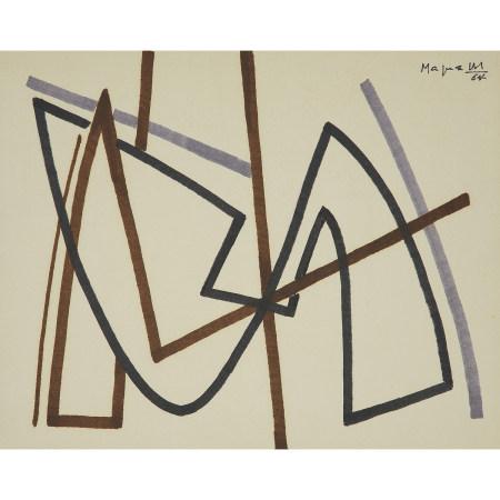 ¤ ALBERTO MAGNELLI (1888-1971)  COMPOSITION, 1964  Feutre sur papier