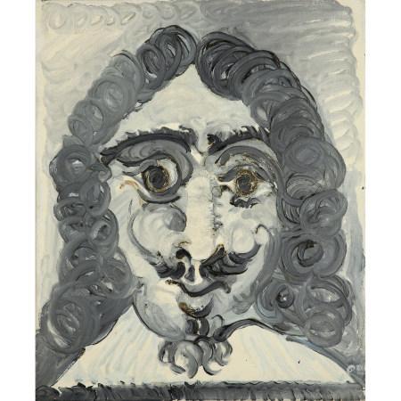 ¤ PABLO PICASSO (1881-1973)  TÊTE D'HOMME OU TÊTE DE MOUSQUETAIRE, 196