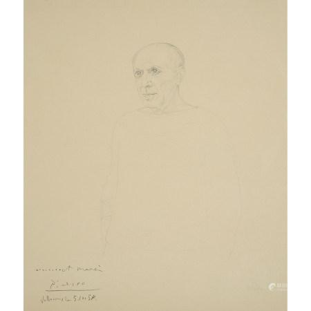MARIE ELISABETH WREDE (1898-1981)  PORTRAIT DE PABLO PICASSO, VERS 195