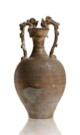 A DRAGON-HANDLED BALUSTER AMPHORA VASE