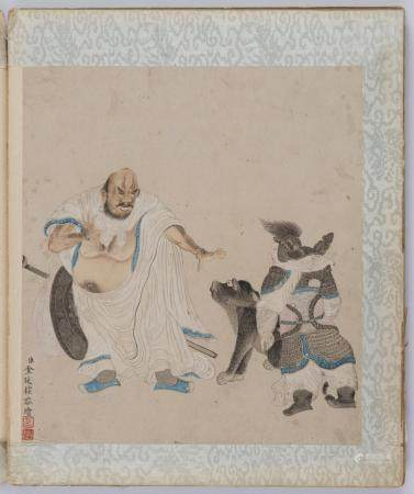 JIN TINGBIAO (ACTIVE 1757–1767, ATTRIBUTED TO) AN ALBUM OF TEN PAINTINGS OF ARHATS