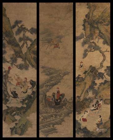 THREE SCENES FROM 'JOURNEY TO THE WEST'