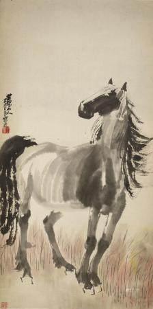 WANG QINGFANG (1900-1956) STANDING HORSE
