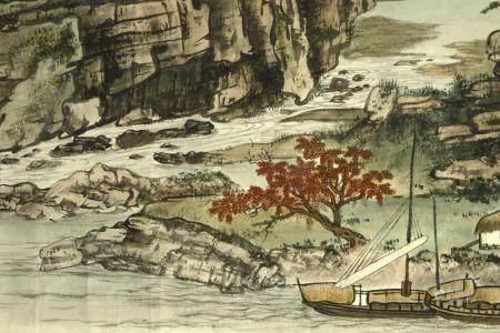 WU HUANSUN (1905-1975) LONG RIVER IN SICHUAN