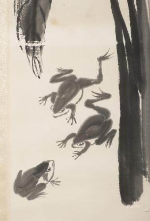 QI BAISHI (1864-1957) THREE FROGS AND A DRAGONFLY*