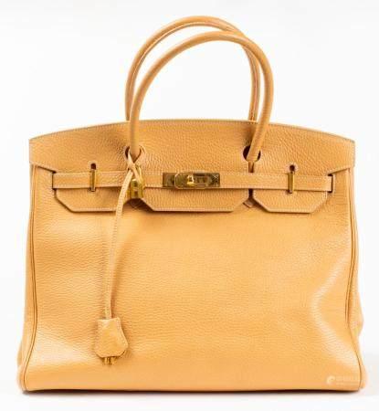Tan Leather 35cm Handbag