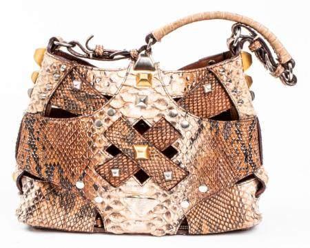 Python Snake Print Handbag