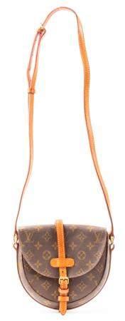 Brown Coated Canvas Handbag