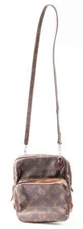 Brown Coated Canvas Camera Style Handbag