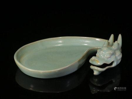 Ru Kiln Dragon Head Shape Water Pan