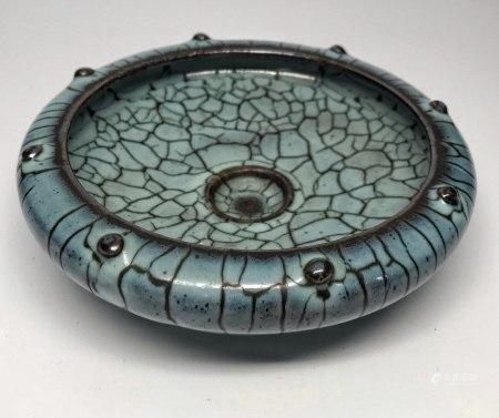 Jun Klin, Sky Blue Glaze Writing-brush Washing Porcelain Tray