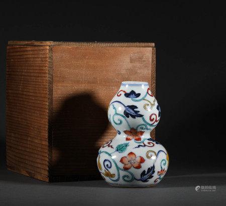 明代.斗彩葫蘆瓶