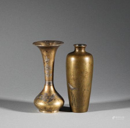 清代.銅製花瓶