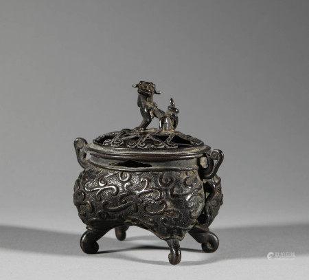 清代.銅製熏爐