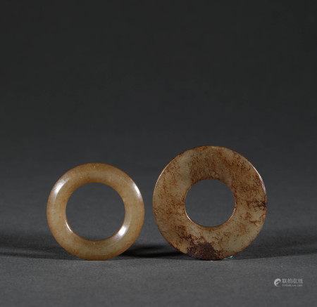 漢代.和田玉環
