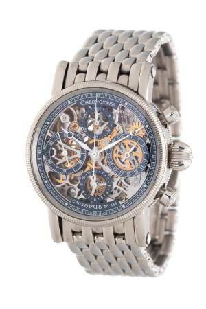 CHRONOSWISS, STAINLESS STEEL REF. 7523 'OPUS' CHRONOGRAPH WRISTWATCH