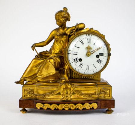 Gilt bronze clock 19th C.
