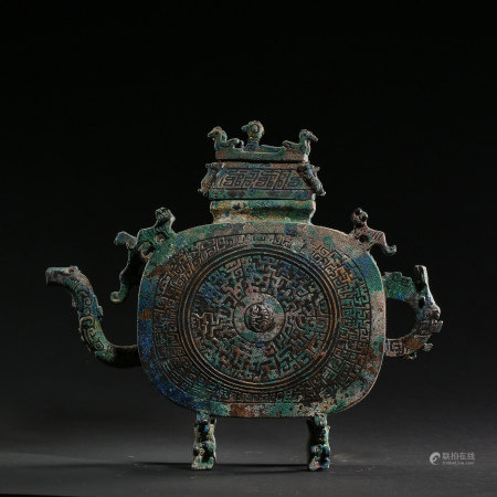CHINESE HAN DYNASTY BRONZE KETTLE