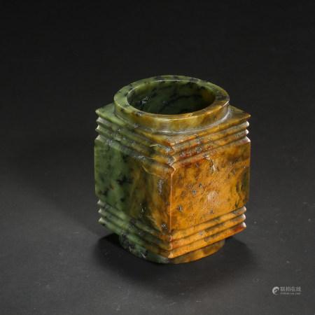 CHINESE LIANGZHU CULTURE JADE CONG