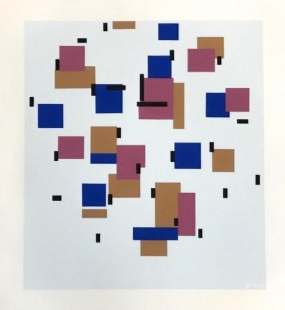 "Piet Mondrian serigraph ""Composition en bleu b"""