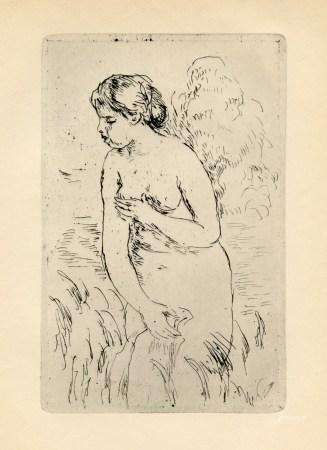 "Pierre-Auguste Renoir ""Baigneuse Debout, a mi-jambes"" original etching"