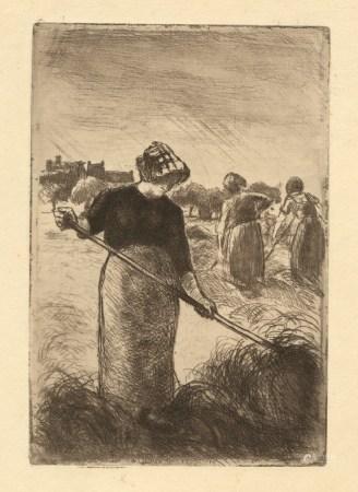 """Camille Pissarro """"Les Faneuses"""" original etching"""